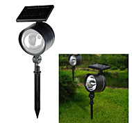 Solarbetriebene 4-LED White Light Rechargeable Plastic Garden Spotlight