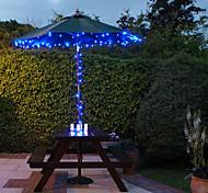 Solar 60-LED Light Blue Luz de Navidad Navidad al aire libre Decoración Lámparas