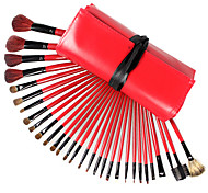 30 Pcs Wool Cosmetic Brush Makeup Brush Set