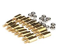 m3 x 10 mm e 6 in rame terminali postali fai da te vincolanti (50 pz, oro)