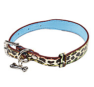 Adjustable Leopard Printing Pattern Collar for Dogs(S-M)