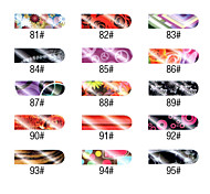 16 PCS Whole Colored Nail Foil Art Full Cover Stickers Manicure