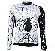 Longa Kooplus homens secos rápidos da luva Ciclismo Jersey (Spider Design)