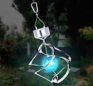 Solar LED couleur changeante Saturne Vent Fileur suspension à lumière en spirale