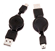 Retractable USB2.0 Male to Mini USB2.0 Male Cable