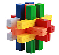 Plastic Colorful Building Blocks Brain Teaser Puzzle