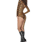 Sexy Leopard Cat Mujer Clubwear Teddy Halloween Party Wear Set Stripper