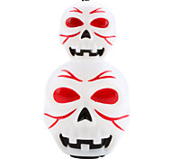 Halloween Skull Style Lantern with Red and Blue LED Flashing Light and Sound Effect (3xAG13)