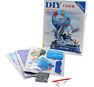 19 Pieces DIY 3D Puzzle Dolphin Alarm (difficulty 4 of 5)