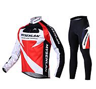 Chaud maillots de cyclisme chaud à manches longues + COLLANT ECHAUFFEMENT hiver Polaire pour hommes mysenlan 2 côtés toison rousse automne chute
