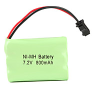 Ni-MH AAA Battery with SM Port (7.2v, 800 mAh)
