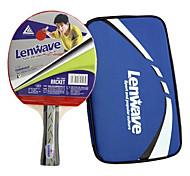 lenwave manico corto in legno da tavolo racchetta da tennis (1 pz)