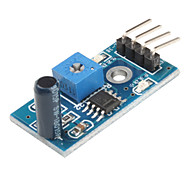 Vibration Switch Sensor Module with DuPont Cable for Intelligent Car (Blue)