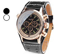 Men's PU Analog Quartz Wrist Watch (Assorted Colors)