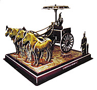 64 Stück DIY 3D Puzzle China Bronze Chariots Pferde (Schwierigkeit 4 von 5)