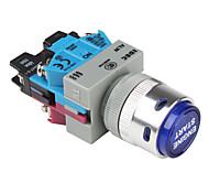 Blue Indicator Light Engine Push-Start Button Set for Auto-Refitting (DC 12V)