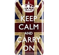 Carcasa Dura Envejecida de La Bandera Británica para el Samsung Galaxy S Advance I9070