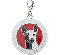 Dog Pattern Rounded Style Collar Charm for Dogs Cats