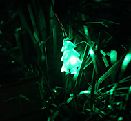 2M 20-LED Green Light Christmas Tree Shaped LED String Fairy Lamp (3xAA)