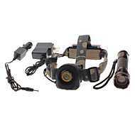 2-in-1 5-Mode Cree XM-L T6 LED Flashlight and Headlamp Set (1x18650, 1200LM)