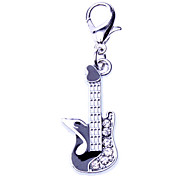 Dog tags Black Electric Guitar Style Collar Charm for Dogs Cats