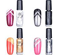 4PCS BK Multi-Color Nail Art Top Coat Decorative Polish(5ml,Color No.1-No.4)