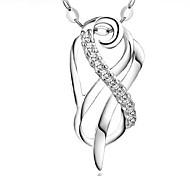 Silk Ribbon Surround Fashion Silver Plated Pendant