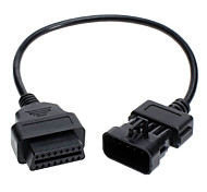 OBD OBD2 10 Pin to 16 Pin Connector Diagnostic Adapter for OPEL