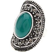 Vintage Argento tibetano agata anello regolabile