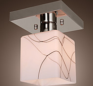 Stainless Steel Ceiling Light in Cube Shape