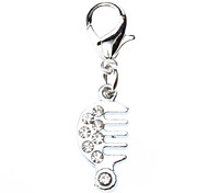 Rhinestone Decorated Small Comb Style Collar Charm for Dogs Cats
