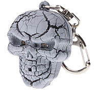 2-Pack Skull Keychain with Sound and Light Effect