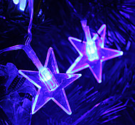 2.8M 20-LED Star Shaped Blue Light String Fairy Lamp for Christmas (3xAA)