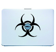 Laptop Skin Cover Art Sticker Decal para el MacBook Air Pro / Dell / HP / Compaq / Acer / Lenovo / Sony (Negro)