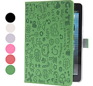 Cartoon Style PU Leather Case w/ Stand for iPad mini 3, iPad mini 2, iPad mini (Assorted Colors)
