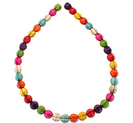 Watermelon Shape Colorful Turquoise Beads