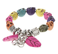 Skullcandy Color Turquoise Silver Plated Bracelet