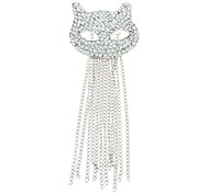 Z&X®  Glittering Mask Kitty Tassels Brooch