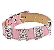 strass collare di stile bambino regolabile per cani (collo: 15-25cm/5.9-9.8inch)