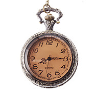 Unisex Steel Analog Quartz Pocket Watch (Bronze)