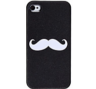Etui Rigide Motif Moustache pour iPhone 4/4S