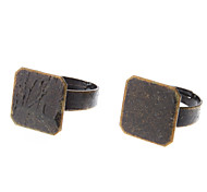 15mm Square Coppery Metal Adjustable Ring (Contain 10 Pics)