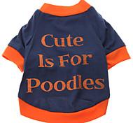 Perros Camiseta / Ropa / Ropa Azul Primavera/Otoño Letra y Número