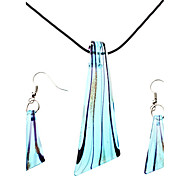 esmalte de color de la joyería del pendiente del collar de la hoja en forma de la mujer