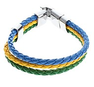 Z&X®  Three-color Weave Leather Galloon Bracelet