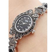 Women's Alloy Quartz Analog Bracelet Watch (Black)