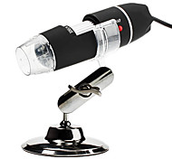 Portable USB 2.0 and 1.1 50X/500X 2MP Digital Microscope Magnifier with 8-LED Illumination (Black)