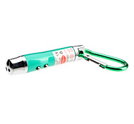 Mini 3-in-1 Red Laser + UV + White Light LED Flashlight with Carabiner (3xLR44, Assorted Colors)