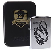 Zorro Dragon Pattern Oil Lighter