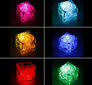 Color Changing Ice Cube Shaped Mini LED Decoration Light